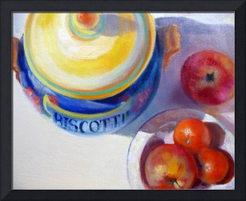 Italian Pottery, Apples and Clementines