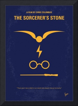 No101-1 My HP - SORCERERS STONE minimal movie post