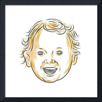 Caucasian Toddler Smiling Drawing