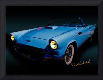 57 T-Bird Convertible in Powder Blue