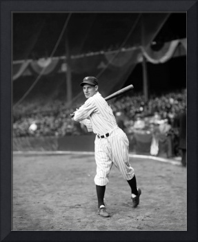 Leo Durocher swinging