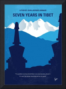 No559 My Seven Years in Tibet minimal movie poster