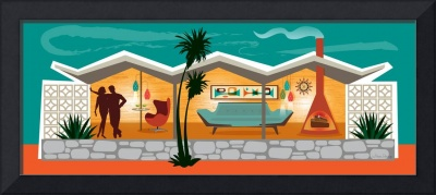 Mid Century Modern House - Folded Plate Roof
