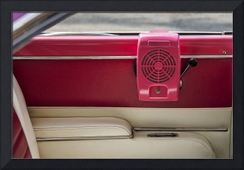 Vintage Drive-in Speaker Hung in an Classic Car