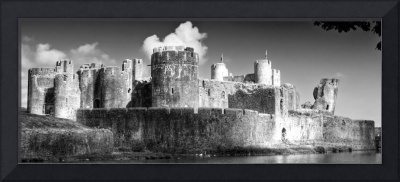 Caerphilly Castle 4 Monochrome