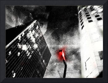 Red Light Among Towers