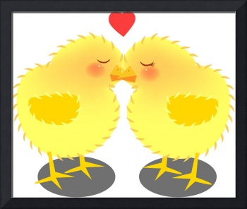 kissing chick