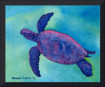 Purple Sea Turtle