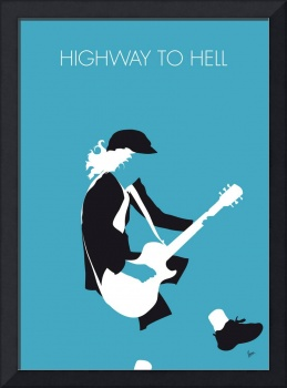 No125 MY ACDC Minimal Music poster