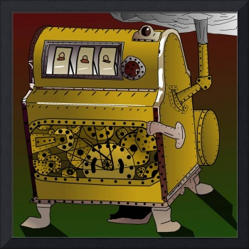 Steampunk Liberty Bell Style Slots Machine