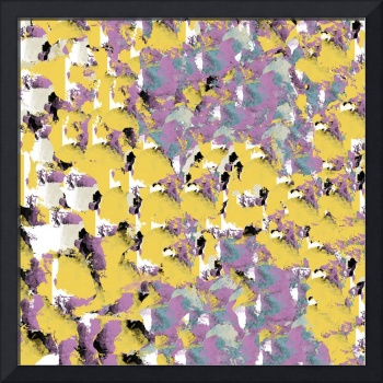 Purple and Gold Decorative Abstract