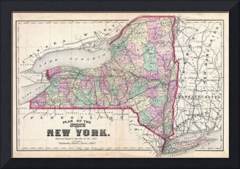 Vintage Map of New York (1873)