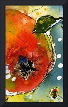 Apple Abstract 110209A by Ginette