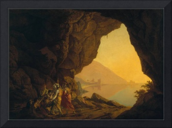 A Grotto in the Kingdom of Naples, with Banditti,