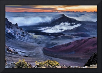 Crater of Haleakala at Sunrise