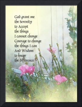 Serenity Prayer Poppies by the Shed