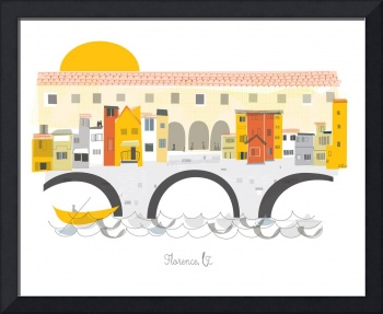 Florence Modern Cityscape Illustration