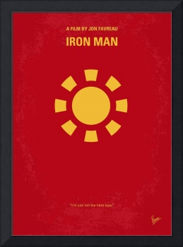 No113-1 My Iron man 1 minimal movie poster