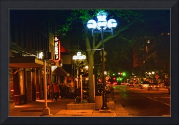 Ann Arbor Street Scenes - Main St. at Night
