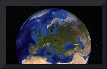 Earth showing Europe.