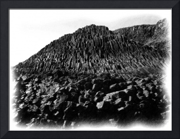 Staffa Basalt 1 bw pencil