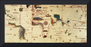 Copy of Monumenta Cartographia, 1502 colour litho