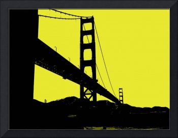 Glden Gate Bridge in Yellow