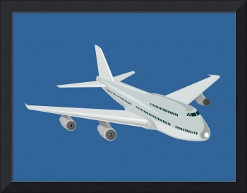 Commercial Jet Plane Airline Retro