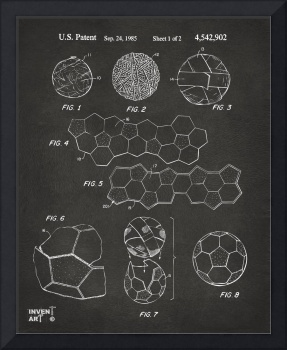 Soccer Ball Construction Patent Artwork Gray