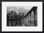 Minneapolis Stone Arch Bridge Black and White by Wayne Moran