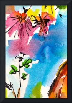 Intuitive Abstract Watercolor #0101 by Ginette
