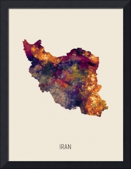 Iran Watercolor Map