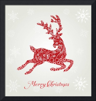 poster merry christmas typography