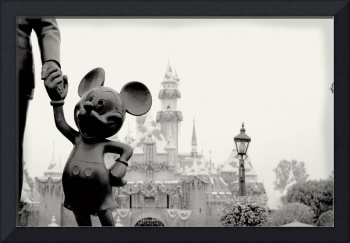 mickey black and white