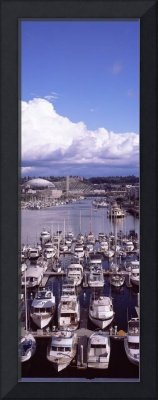 High angle view of boats at a harbor Tacoma Pierc