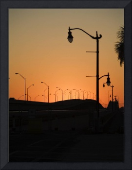 Street Lamp Sunset