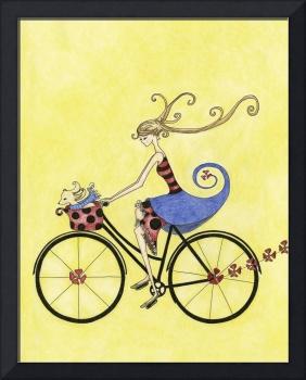 Illustration....bike whimsy