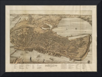 Vintage Map of Portland Maine (1876)