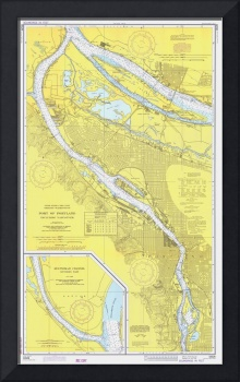 Vintage Map of Portland OR (1974)