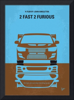 No207-2 My 2 Fast 2 Furious minimal movie poster