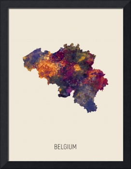 Belgium Watercolor Map