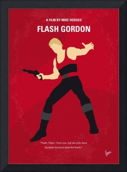 No632 My Flash Gordon minimal movie poster