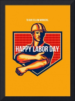 Labor Day Greeting Card Poster