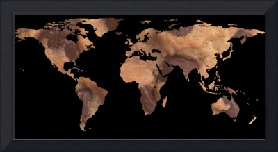 World Map Silhouette - Cookie