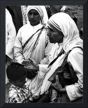 Mother Teresa with young boy