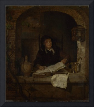 Gabriel Metsu - An Old Woman with a Book
