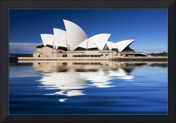Sydney Opera House reflection abstract