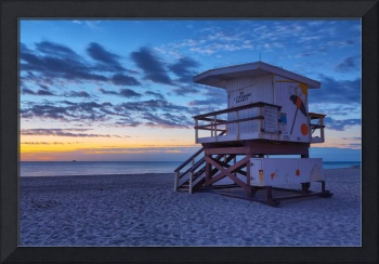 18th Street Lifeguard Tower during the Mornings Bl