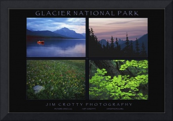 Glacier National Park Poster Print by Jim Crotty