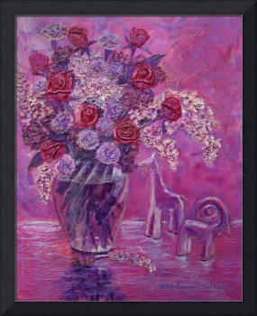 Lilacs & Flowers in Shades of Lavender Painting